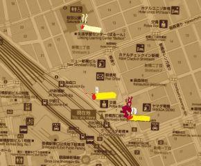 新橋駅周辺の喫煙所