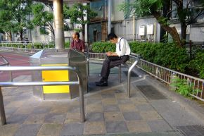 港区生涯学習センター(旧桜田小学校)喫煙所